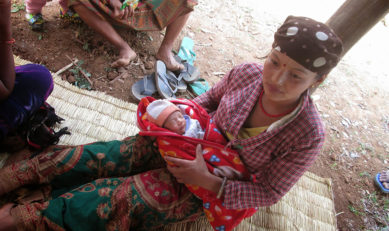 Giving birth to a new life after quake