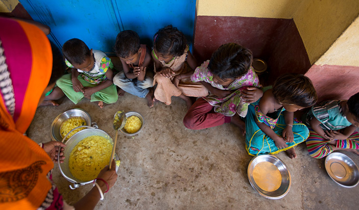 Eating Children under Strengthening Health and Nutrition Strategies in Community Platforms - CARE India
