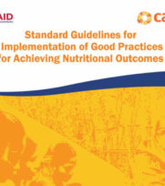 Standard Guidelines for Implementation of Good Practices for Achieving Nutritional Outcomes