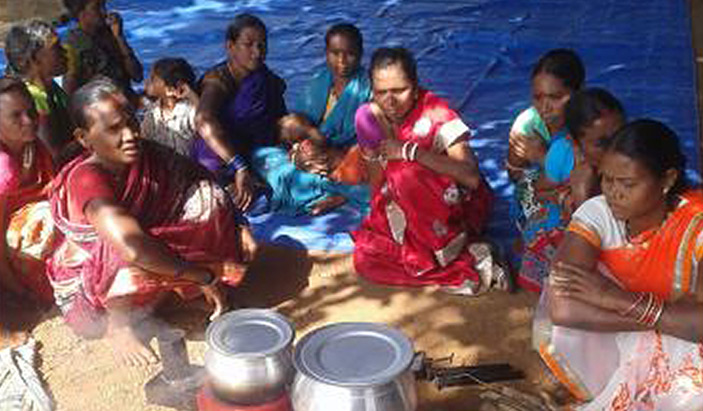 Women cooked on Improved Cook Stoves (ICS) under Switch Asia    Project - CARE India