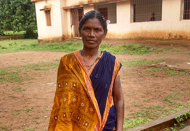 Aruna Majhi Works as an Animator with CARE India at a Farmer Field School under Project Pathways