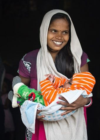 Mother with Baby - NEWBORN SURVIVAL – BTSP Program - CARE India