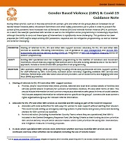 CARE GBV Covid Guidance Note
