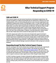 Bihar Technical Support Program Responding to COVID-19