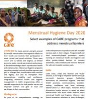 CARE Menstrual Hygiene Day 2020