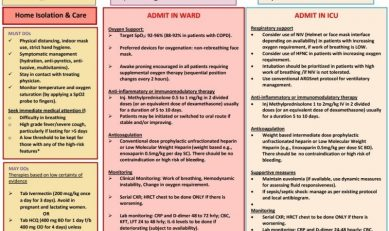 Managing a COVID – 19 patient